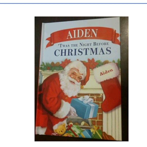 """""""Aiden"""" Christmas child's Personalized name book"""